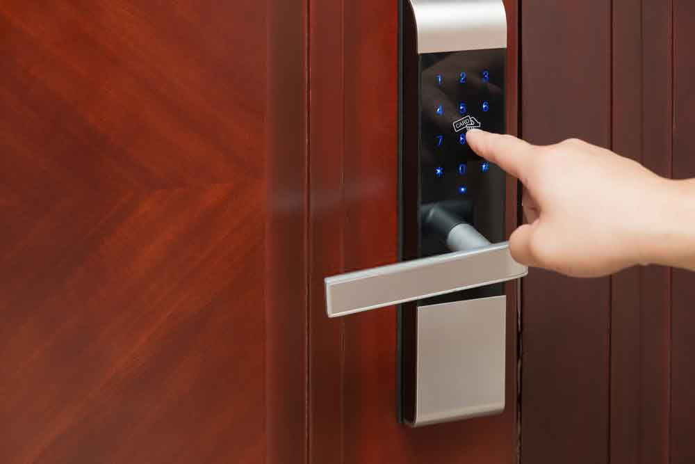 electronic door lock with tap card function